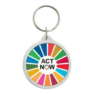 LLAVERO REDONDO ACT NOW ODS SDG DESARROLLO SOSTENIBLE #1