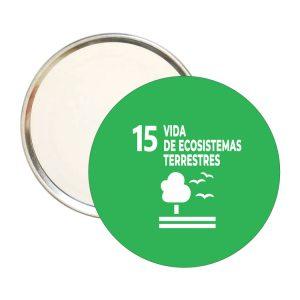 ESPEJO REDONDO ODS SDG DESARROLLO SOSTENIBLE 15 VIDAS DE ECOSISTEMAS TERRESTRES