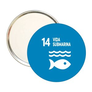 ESPEJO REDONDO ODS SDG DESARROLLO SOSTENIBLE 14 VIDASUBMARINA