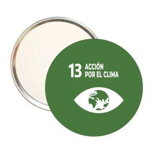 ESPEJO REDONDO ODS SDG DESARROLLO SOSTENIBLE 13 ACCION POR EL CLIMA
