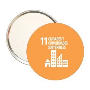 ESPEJO REDONDO ODS SDG DESARROLLO SOSTENIBLE 11 CIUDADES Y CPMUNIDADES SOSTENIBLES
