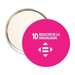 ESPEJO REDONDO ODS SDG DESARROLLO SOSTENIBLE 10 REDUCCION DE LAS DESIGUALDADES