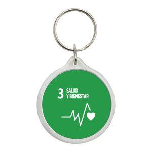 888 LLAVERO REDONDO ODS SDG DESARROLLO SOSTENIBLE 3 SALUD Y BIENESTAR