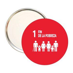 ESPEJO REDONDO ODS SDG DESARROLLO SOSTENIBLE 1 FIN DE LA POBREZA